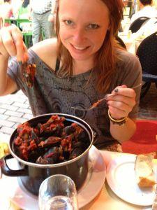 Mosselen eten in Brussel