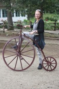 Da's een hoge fiets voor als je ongeveer anderhalve meter 'lang' bent