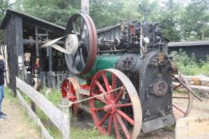 Locomotief van de nog rijdende stoomtrein