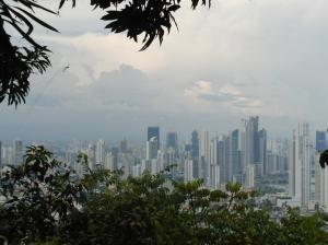 Prachtig uitzicht op de skyline van Panama City
