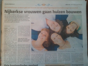 krantenartikel Habitat for Humanity