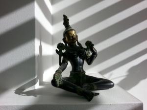 Gekocht op mijn verjaardag in Nepal, dit prachtige bronzen beeld van Shiva