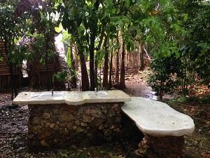 Buitenbadkamer Great Huts Jamaica