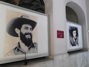 Fidel Castro en Che Guevara in het Museo De La Revolucion in Havana