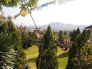 Vanaf de tent keek ik uit op Kathmandu