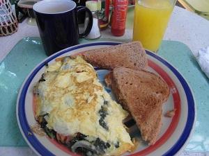 Overheerlijke omelette met Calaloo