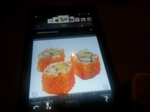Het weekend ingeluid met sushi! We konden digitaal bestellen, hoe hip.